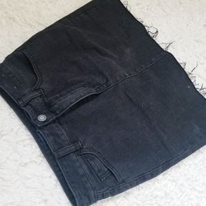 Hollister Co. Black Denim Skirt